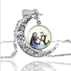 Nightmare Before Christmas Rose Crescent Necklace